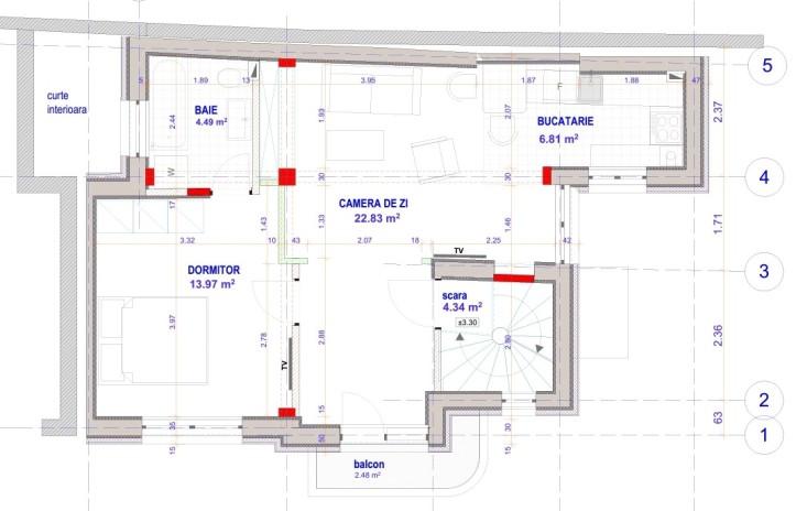 plan etaj 50,58
